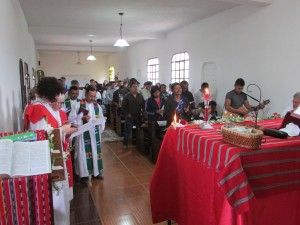 The Lutheran mass celebrating the retirement and the installation.