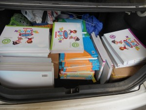 DELIVERY OF BOOKS TO THE SCHOOL