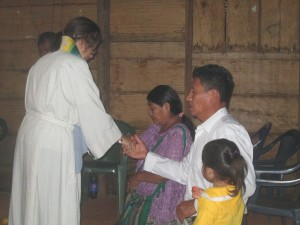 Pedro and Victoria installed as communion ministers.