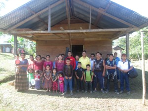 The folks from Playita in front of their new bunkhouse.